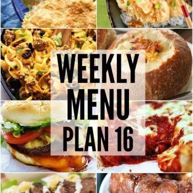 Weekly Menu Plan #16