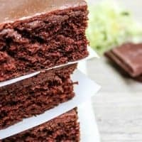 Zucchini Texas Sheet Cake is a crowd pleasing cake with a rich buttermilk chocolate frosting. I hear everything is bigger in Texas and this cake hits the mark!