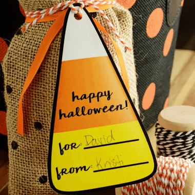 Printable Candy Corn Gift Tags