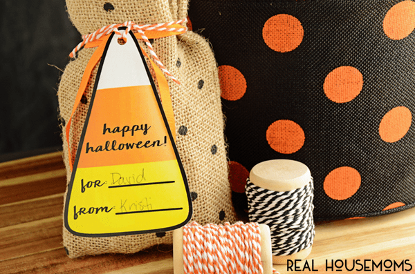 These free Printable Candy Corn Gift Tags are perfect for all of your treats (and tricks!) this season