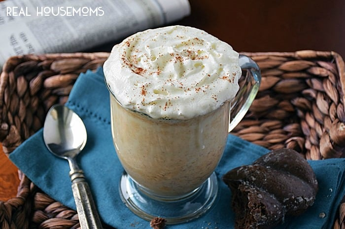 Pumpkin Pie Latte is a warm, comforting cup of fresh pumpkin, milk, and spices. It tastes like fall and is kid-friendly too!