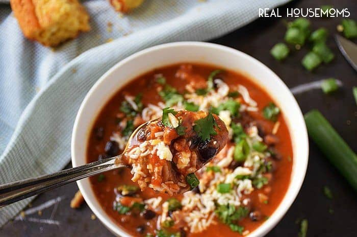 Slow Cooker Pumpkin Chili is full of wonderful flavors that combine to create a comforting bowl of chili that will warm you through and through!