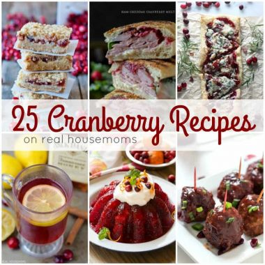 Turn tart little berries into something crave-able with these 25 Cranberry Recipes! Perfect for the holidays, there's a cranberry recipe for every course!