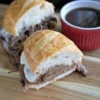 These SLOW COOKER BEER FRENCH DIP SANDWICHES are an easy way to get dinner on the table and they taste better than at a restaurant!
