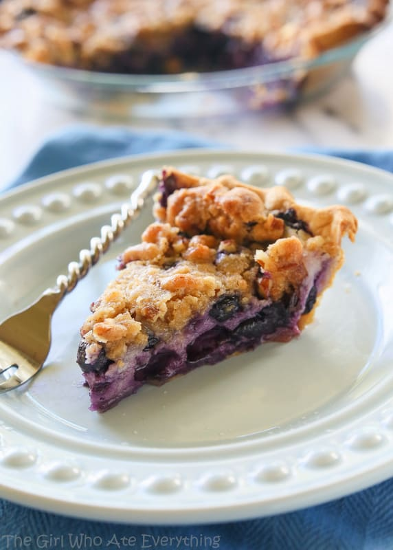 Blueberry Custard Pie - The Girl Who Ate Everything