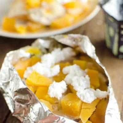 Butternut Squash & Chicken Foil Packets