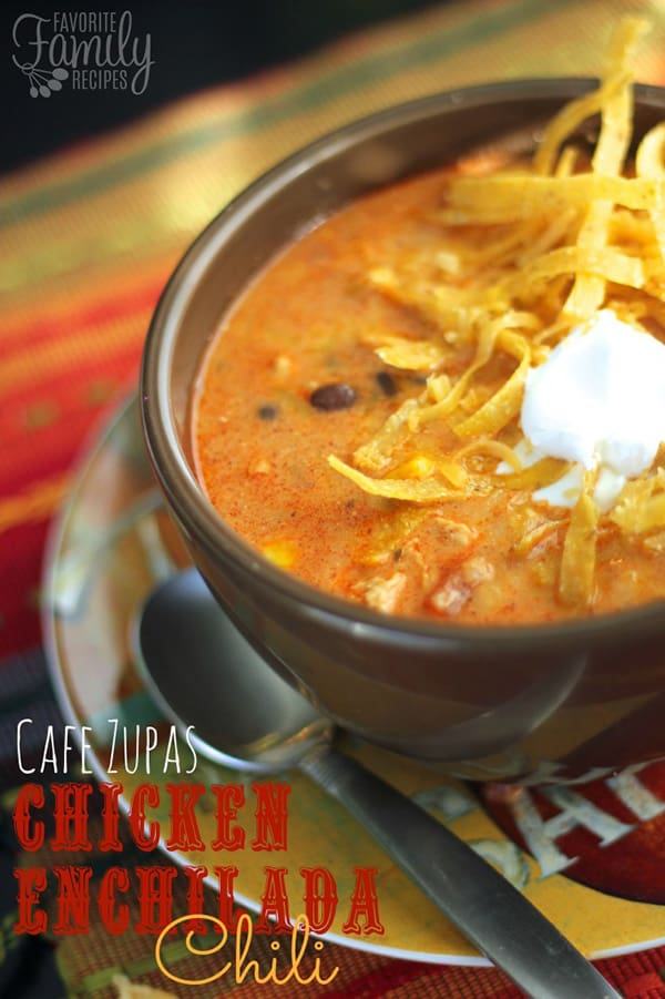 Chicken Enchilada Chili - Favorite Family Recipes