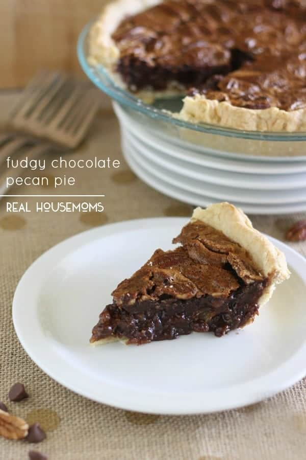 Fudgy Chocolate Pecan Pie is a rich and delicious twist on a Thanksgiving classic chocolate lovers will go crazy for!