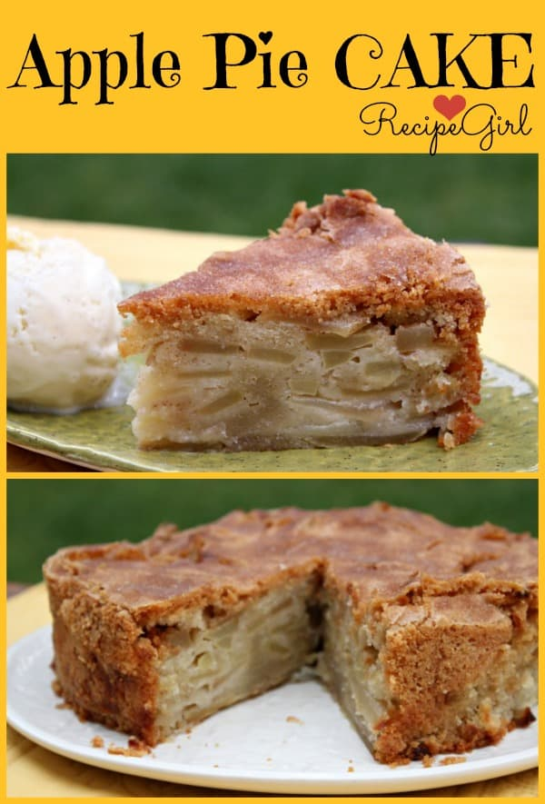 Cinnamon Apple Pie Cake - Recipe Girl