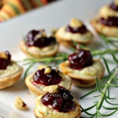 Cranberry Goat Cheese Bites