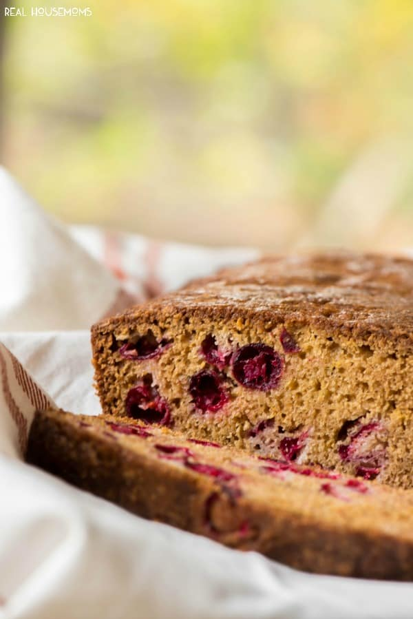 Cranberry Orange Bread is a my new favorite fall breakfast! It's so easy and tastes amazing!