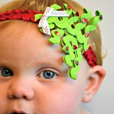 DIY Christmas Tree Baby Headband