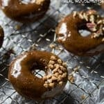 DULCE DE LECHE GLAZED CHOCOLATE DONUTS are a sinfully good breakfast treat!