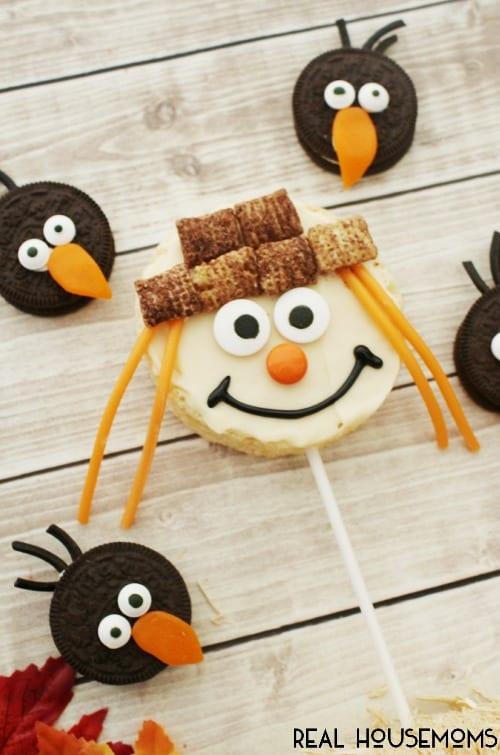 Have some Fall fun with these cute edible SCARECROW & CROW TREATS!