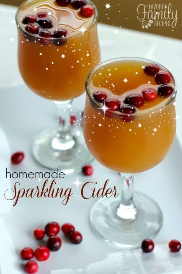 Homemade Sparkling Cider - Favorite Family Recipes