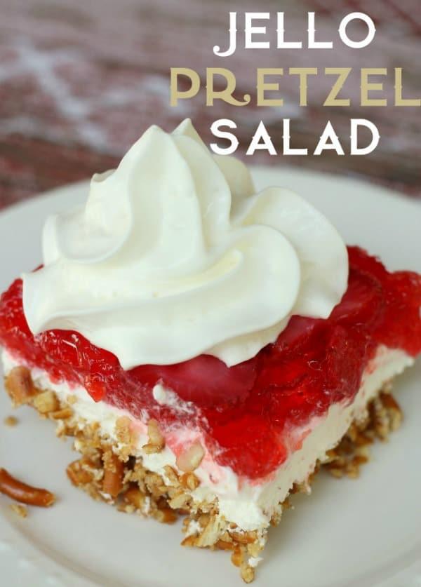 Jello Pretzel Salad - Lil' Luna