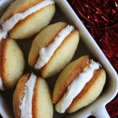 Mini Eggnog Whoopie Pies