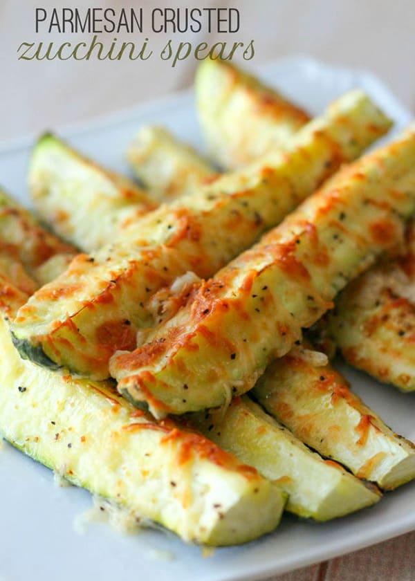 Parmesan Crusted Zucchini - Lil' Luna