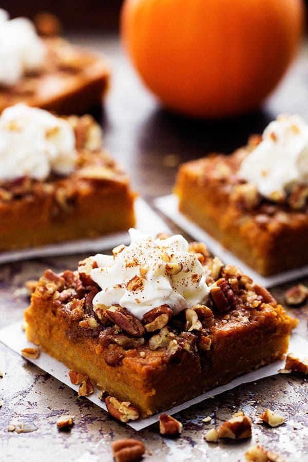 Pumpkin Pecan Pie Bars - The Recipe Critic