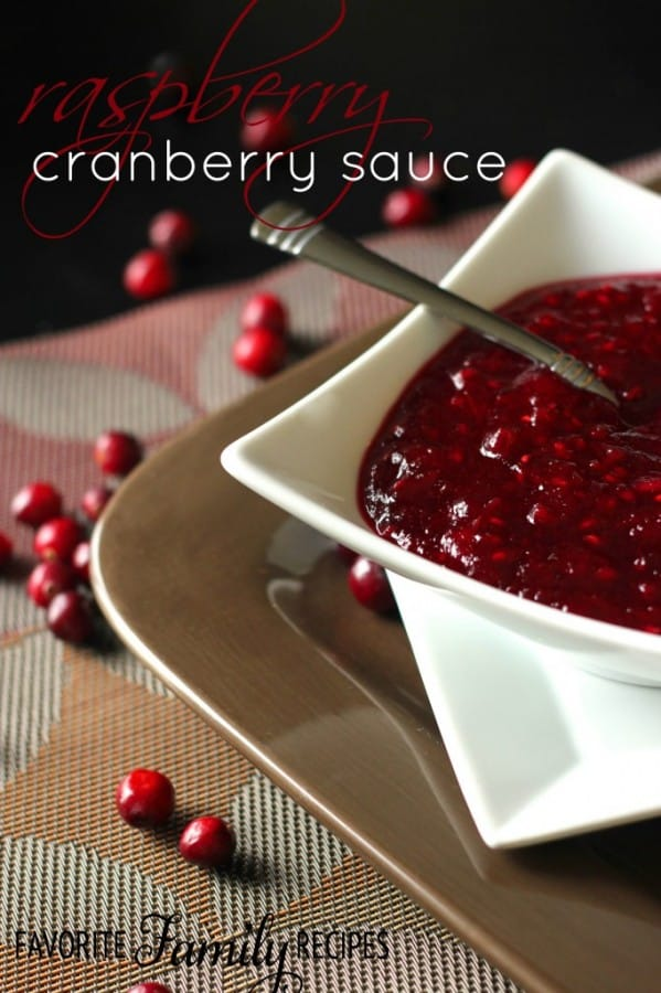Raspberry Cranberry Sauce - Family Favorite Recipes