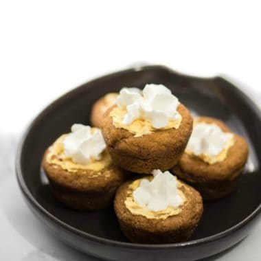 Snickerdoodle Pumpkin Cheesecake Bites