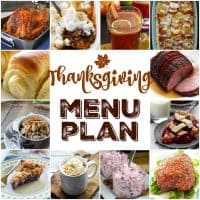 We've put together a MEAL PLAN for your Thanksgiving dinner that'll make planning your holiday meal easy and delicious!