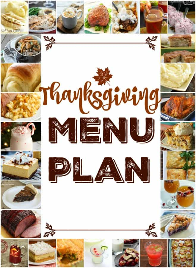 We've put together a menu plan for your Thanksgiving dinner that'll make planning your holiday meal easy and delicious!