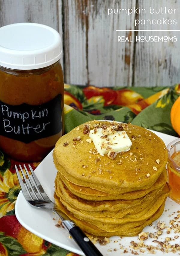 PUMPKIN BUTTER PANCAKES are one of the best ways to wake up on a cold morning!