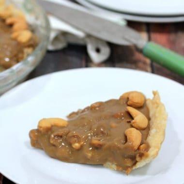 Salted Caramel Cashew Pie