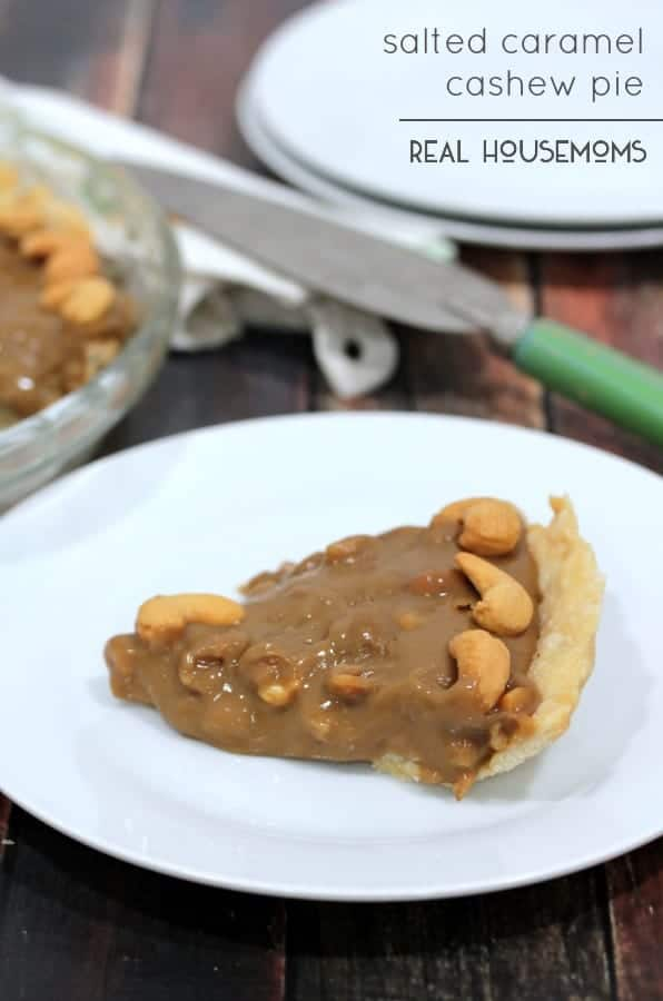 SALTED CARAMEL CASHEW PIE is a rich combination of sweet and salty you'll crave!