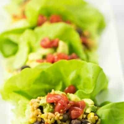 4-Ingredient Southwestern Lettuce Wraps