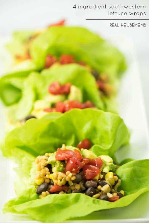 4-INGREDIENT SOUTHWESTERN LETTUCE WRAPS are going to be your best friend this holiday season! They're the easiest appetizer you'll make and they taste out-of-this world AMAZING!!!