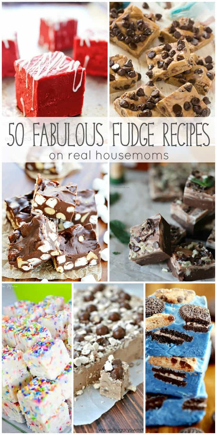 I could eat fudge in just about every flavor under the sun and with these 50 Fabulous Fudge Recipes now you can! These easy to make desserts are perfect for the holidays and great for gift giving!