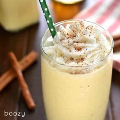 Boozy Eggnog Milkshake