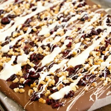 Chocolate Cranberry Walnut Bark