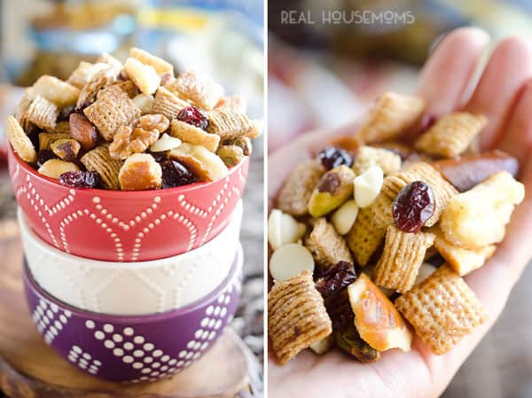 CRANBERRY CINNAMON SNACK MIX is an easy party bite perfect for the holidays!
