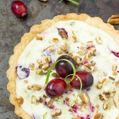 Cranberry Gorgonzola Tart