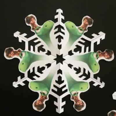 Dino Snowflakes (Free Printable)