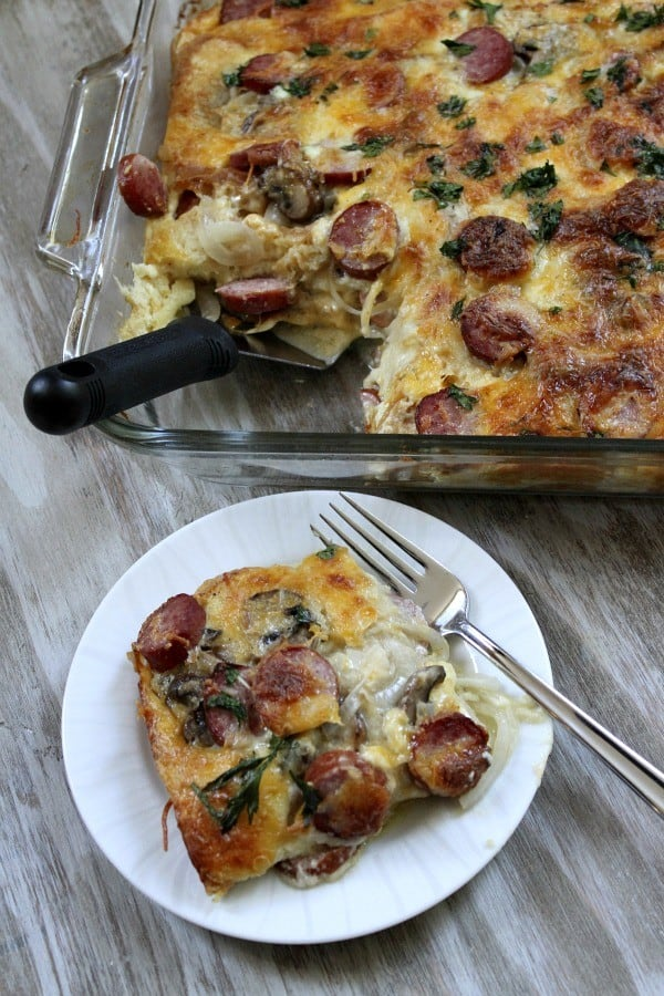 Egg-Mushroom Kielbasa Bake - Recipe Girl