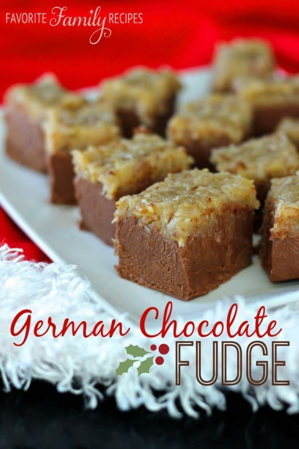 German Chocolate Fudge - Favorite Family Recipes