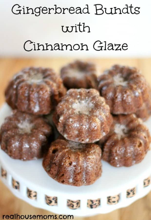 Gingerbread Bundts with Cinnamon Glaze - Real Housemoms