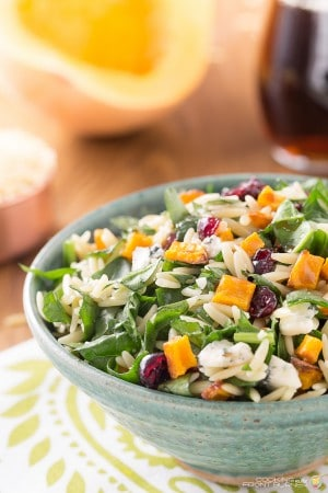 Maple Vinaigrette Orzo Butternut Squash
