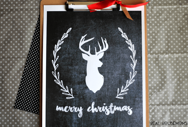 You can't go wrong with adding this Merry Christmas Chalkboard Art to your home decor this holiday season!
