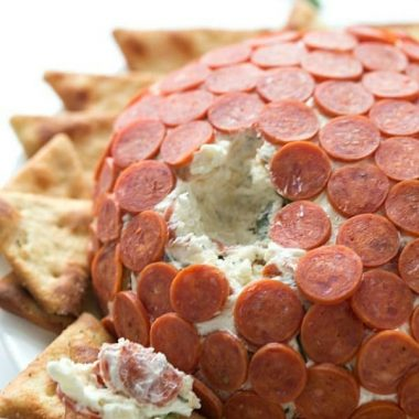 Pepperoni Pizza Cheese Ball