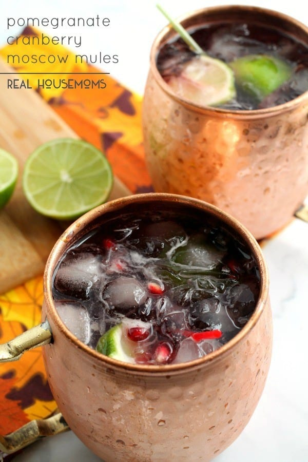 Pomegranate Cranberry Moscow Mule - Real Housemoms