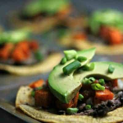 Roasted Sweet Potato Tostadas