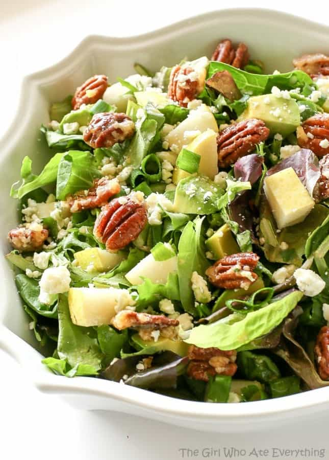 Roquefort Pear Salad - The Girl Who Ate Everything