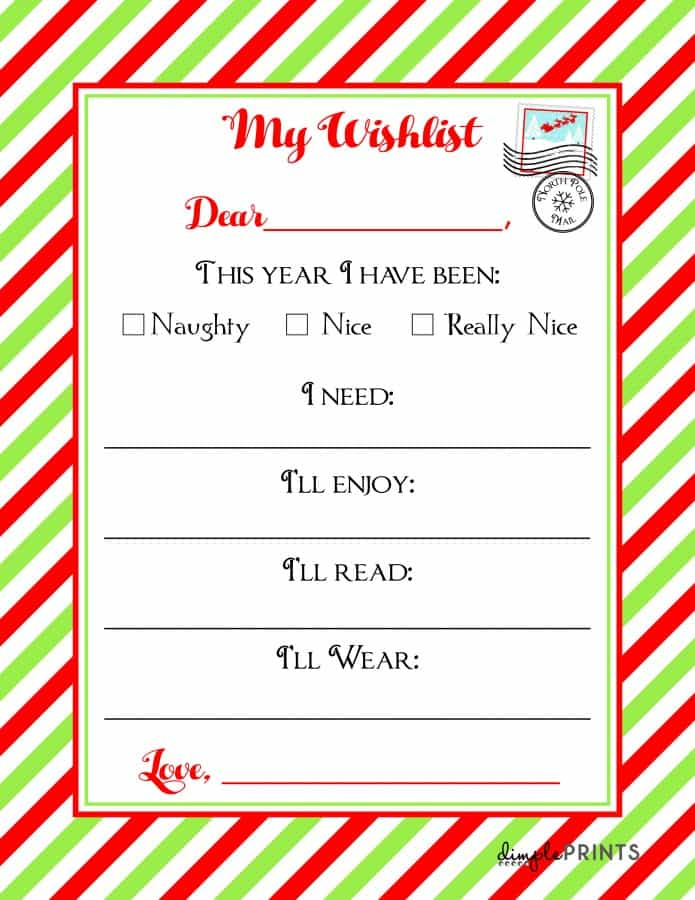 One of my kids favorite holiday traditions is writing their CHRISTMAS WISHLISTS, and with our free printable, you can narrow down their endless requests to some essentials!