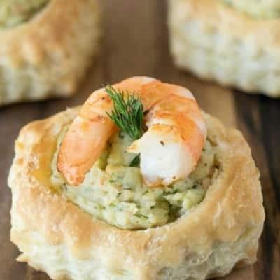 Shrimp & Avocado Puff Pastry Shells