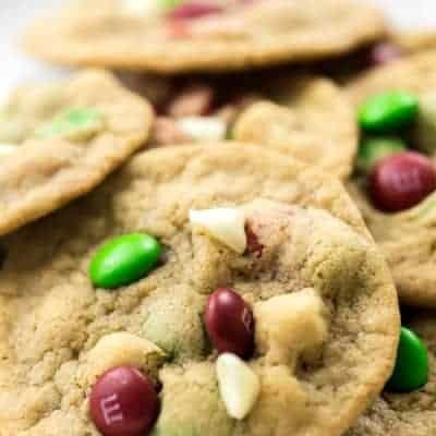 White Chocolate M&M Cookies